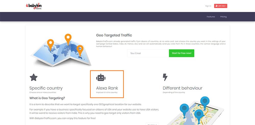 Buy Alexa Traffic from BabylonTraffic